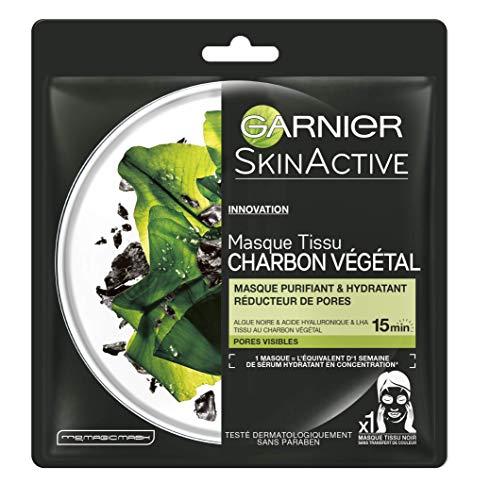 Garnier - SkinActive - Masque Tissu Charbon Végétal - Purifiant et Hydratant