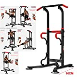 FR&RF Multifunzionale Coperta Fitness Equipment Barra Orizzontale Singolo/Parallelo Pull up Bar Trainer Corpo Buliding Braccio Indietro Esercizio,1