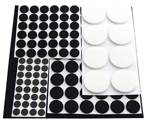 Preisvergleich Produktbild Schneidebrettchen-Einfassung Am-Tech Möbelgleiter (125 Stücke) Pads - Alute Cleva Edition
