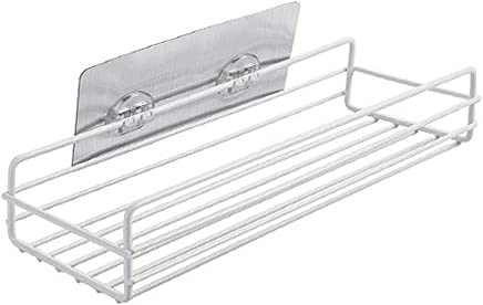 Bathroom Shelf Adhesive Lightweight Multi-functional Organizer Storage Commodity Shelf Rack For Bathrooms Balcony Kitchen Bathroom Shelves Bathroom Fixtures