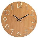 YAHAMA Reloj de Pared Silencioso de 30 cm,Vintage Madera MDF