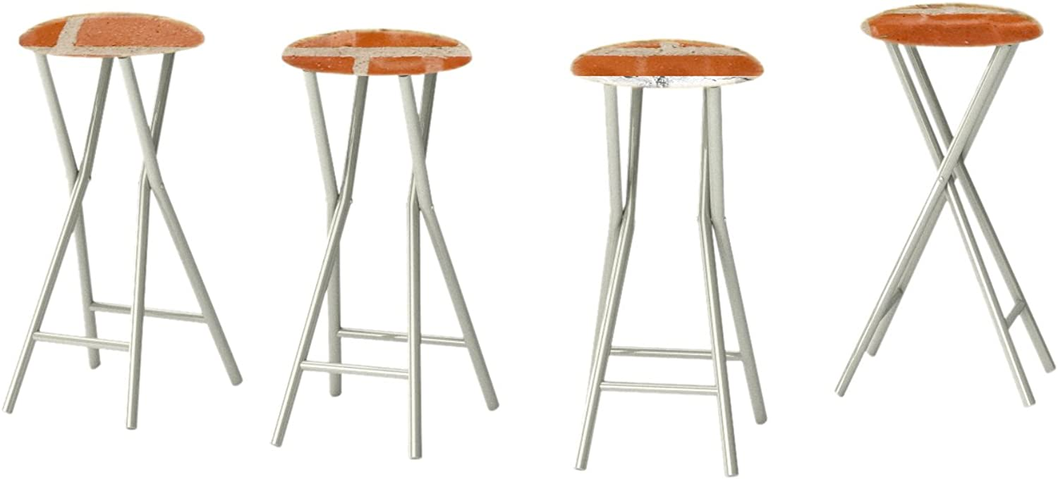 Best of Times Padded Bar Stool (Set of 4), Boston Brick
