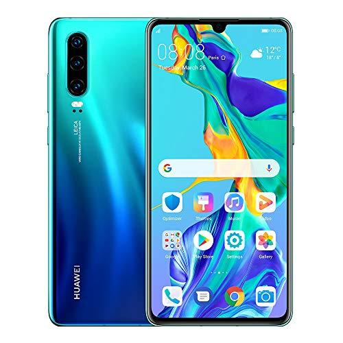 Huawei P30 128GB+6GB RAM (ELE-L29) Unlocked Dual Sim Cell Phone Aurora