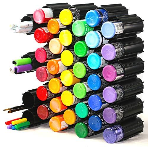 40 pc Set Hex Hive Craft Paint Storage Organizer Rack for Paint, Pens, Dotting Tools, Vinyl Rolls, etc. Craft Room Storage Organizer Made in USA