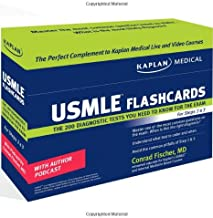 Kaplan Medical USMLE Diagnostic Test Flashcards: The 200 Diagnostic Test Questions You Need to Know for the Exam for Steps 2 & 3