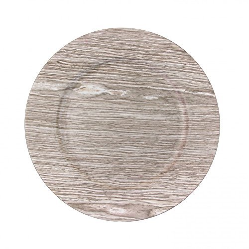 Koyal Wholesale Faux Wood Charger Plates, 13