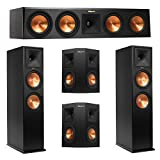 Klipsch 5.0 System with 2 RP-280F Tower Speakers, 1 RP-450C Center Speaker, 2 Klipsch RP-240S Surround Speaker + AudioQuest Bundle