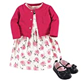Little Treasure Cardigan, Dress and Shoes, Rose, 3-6 Months (6M)