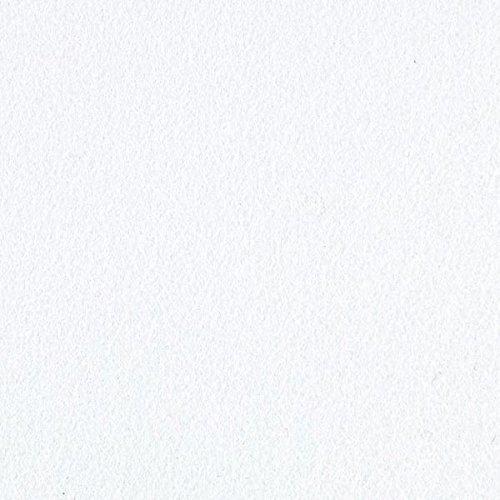 Fabulous Fabrics Filz weiß, Uni, 90cm breit, 3 mm Stärke – Filz zum Nähen von Accessoires, Taschen und Kostümen – Meterware erhältlich ab 0,5 m