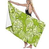 Toallas de Playa Limones Cubitos de Hielo y refrescos Toalla de Piscina Esterilla de Yoga Seque Rápidamente Absorbente Prevención de Arena para Viaje 80*130 cm