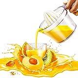 AVE Citrus Lemon Orange Juicer Manual Hand Squeezer, Fruit Juicer Lime Press with Built-in Measuring Cup, 16OZ