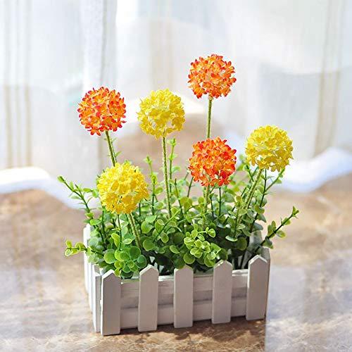 Kunstblumen Flores Artificiales de Seda pequeña Bola,Flores de Hortensia Artificial de Plantas Decoración del Hogar Jardín Exterior Greening