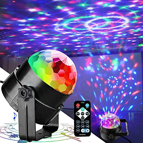 party lights Disco Lights Party Lights QinGerS Dj Stage Light 7 Colors Sound Activated for Christmas KTV Club Lights Romantic decorati