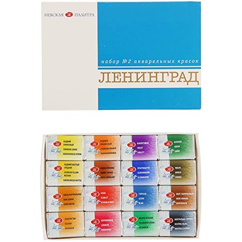 PAINTS - Leningrad Watercolors Set #2 [16 colors. Professional artists' acrylic paints]