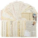 50 Hojas Papel Scrapbooking Vintage Decoración Material Diario Papel Estampado Decorativo Estilo Retro Cartulina DIY Manualidad (C)