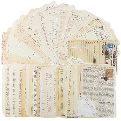 BETESSIN 50 pz Carta Decorativa Vintage per Scrapbooking Decorazione Fai da Te Biglietti d'auguri Decorativi per Diario Album Foto Regalo (C)