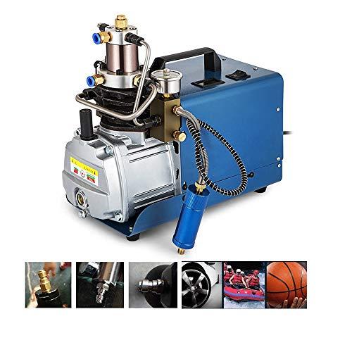 4YANG Compresor de aire eléctrico de bomba de aire de alta presión 300BAR 30MPA 4500PSI, bomba de aire PCP de 220 V para neumáticos normales de automóvil y bicicleta, rifle de buceo (7th Generation)