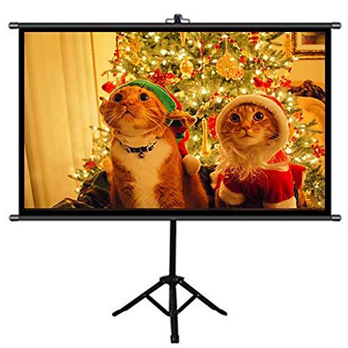 XYSQWZ Pantalla De Proyector con Soporte para Trípode Tela De Pantalla De Película De Proyección Portátil Plegable HD De 60 Pulgadas para El Patio Trasero De Cine En Casa Interior Al Aire Libre