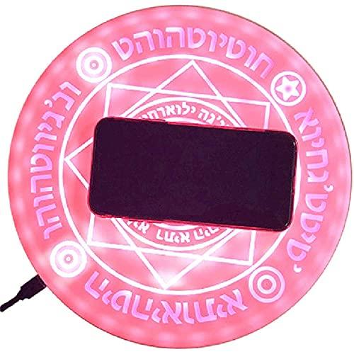 Cargador inalámbrico portátil, cargador inalámbrico con almohadilla de carga inalámbrica ultrafina de 10 W, adecuado para todos los teléfonos inteligentes que admiten la carga inalámbrica Qi, rosa