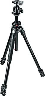 Manfrotto 290 Dual Aluminum 3-Section Tripod Kit with Ball Head (MK290DUA3-BHUS)