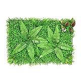 Paneles de setos artificiales para decoración de paredes de plantas de simulación, decoración de pantallas de cobertura de privacidad de plantas resistentes a los rayos UV
