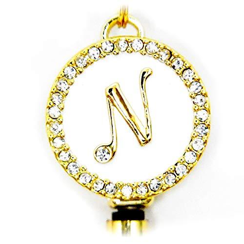 リールキーホルダー イニシャル プレミアム Reel Key Holder initial Premium (N)