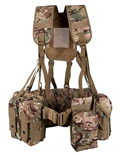 armée militaire américaine britannique Combat Full Ceinture en toile de système para Airborne BTP tactique tout terrain Camo