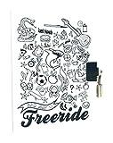 Avenue Mandarine Diario para niños Freeride–Cubierta, Color Blanco/Negro