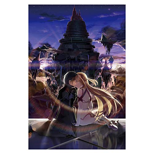 YUBAIBA Sword Art Online Puzzle, Anime Wooden Puzzle, 1000 Stück, Erwachsene kreative Geschenk-Dekomprimierung Jigsaw, Educational-Kind Spielzeug