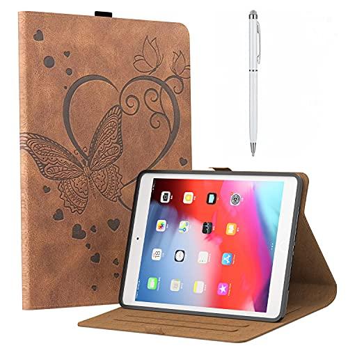 Hülle ipad mini 5 hülle 5 Generation 7,9 Zoll 2019, iPad Mini 4 Generation 7,9 Zoll 2015,Schutzhülle Hülle Cover iPad Mini 1/2/3 Tasche Auto aufwachen/Schlaf Funktion Dunkel braun