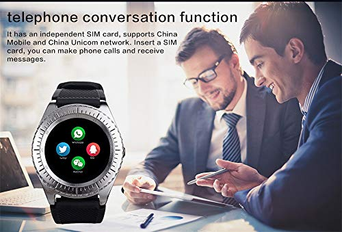 """Kariwell 1.54"""" inch LCD Screen Smart Watch - Support SIM and TFcard Camera/GPS/Mileage/Calories/for Android Phone Kari-74 (Black)"""