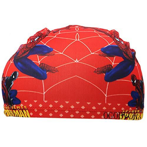 OGOBVCK Popolare Cartone Animato per Bambini Multicolore Cuffia per Capelli e Cuffie Respirabile (Spider)