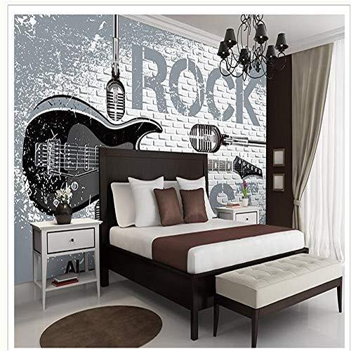 Tapeten Wandbild Aufkleberbenutzerdefinierte Größe Fototapete Europäischen Rock Gitarre Wandbilder Tv Hintergrund Tapeten Tapeten Wandbilder 3D Modern