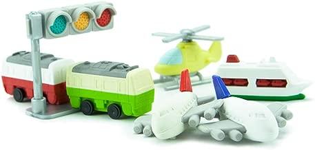 Iwako Japanese Vehicle and Plane Eraser Set
