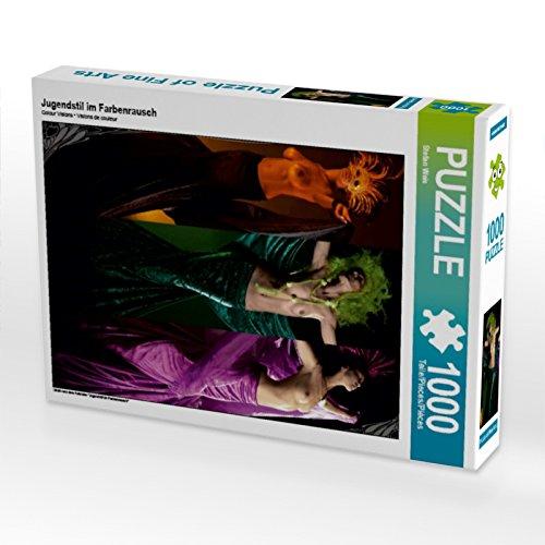 Jugendstil im Farbenrausch 1000 Teile Puzzle hoch