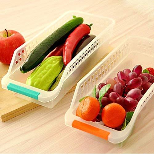 Refrigerator Basket Rack Food Storage Drawer Box Organizer Container Set of 2pcs