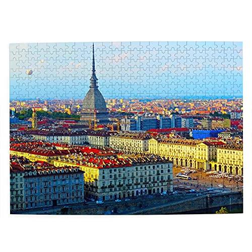 Puzzle Torino Italia 500 pezzi per adulti bambino in legno regalo regalo souvenir 51,8 x 38,1 cm (FX03315)