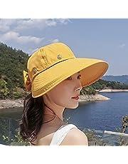 Zonnehoed Voor Dames, Zonnehoed Meerkleurige Zomer Opvouwbare Twee Dragen Zonnehoed Buiten Uv-Bescherming Winddicht Breed Grote Rand Hoed Strandmuts Leeg Tot Vizier Hat-3