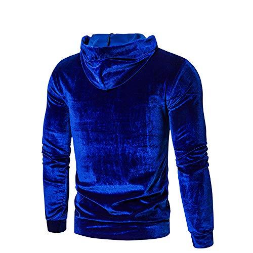 Z&Y Glaa Men's Fluffy Hoodie Teddy Fleece Sweatshirt Zip Fuzzy Jumper Warm Winter Outwear Pullover with Pocket Pullover Hoody Hooded Top Hoodie for Mens and Ladies Hooded Sweatshirts