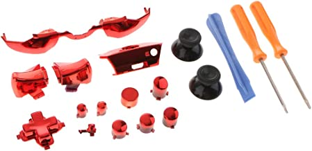 Homyl 18-in-1 Controller Buttons Replacement Kit Full Button Set for Microsoft Xbox One Elite Parts, Red