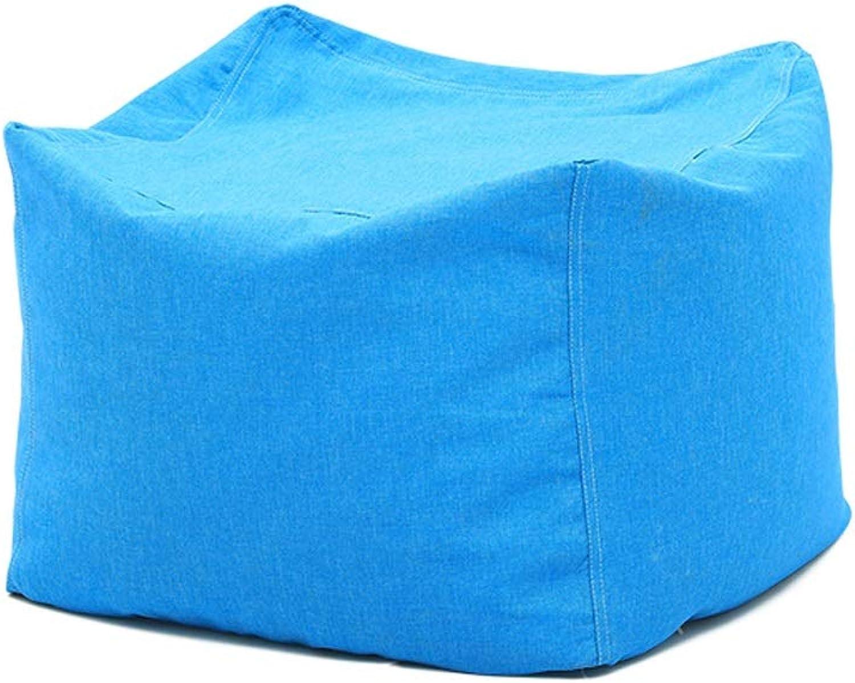 YAXIAO-lazy sofa Creative Lazy Sofa Bean Bag Single Sofa Bedroom Living Room Small Apartment Lazy Chair (color   bluee)