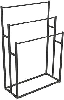 GJXJY Porte-Serviettes avec 3 Barres Support pour Serviettes sur Pied en Métal Portant Vêtements Accessoires de Salle de B...