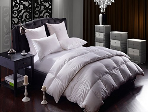 •ROHILinen• New White Goose Feather & Down Duvet Quilt - 10.5 Tog King Size - 100% Pure Cotton Anti Dust Mite & Down Proof Fabric, Pure Cotton Casing By RohiLinen