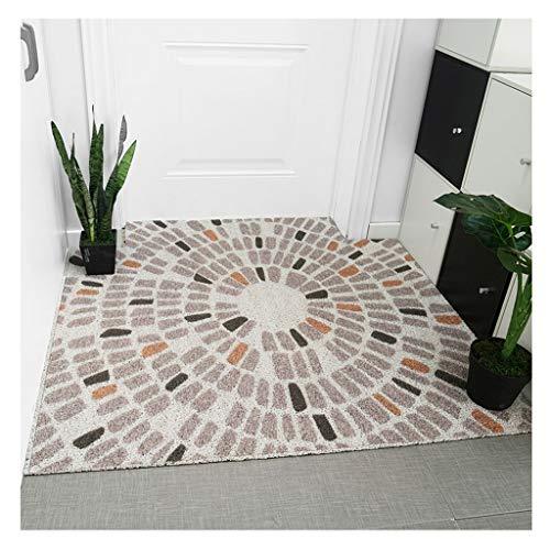 SGLMYD Deurmat, antislip, geometrisch rooster, bedrukt tapijt, wasbaar, antislip, onderhoudsvriendelijk, op maat te snijden, geschikt voor vloerverwarming