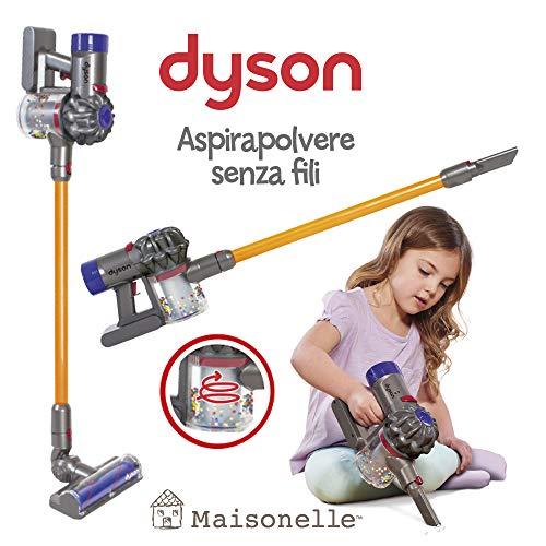 ODS- V8 MAISONELLE Staubsauger Dyson für Kinder, Grau, Orange und Violett, 20800