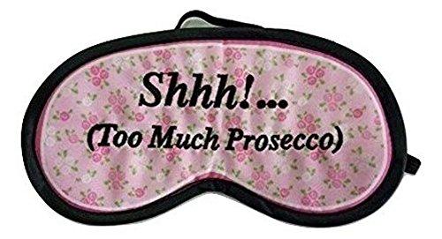 Shhh!. (Te veel Prosecco) Prosecco Bloemen Slaap Oogmasker