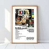 Calaria Mac Rapper Miller K.I.D.S. Poster - Mac Rapper Miller Poster Circles Poster Swimming Poster Minimalistic Album Cover - 11x17 16x24 24x36 Inch (No Frame)