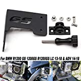 Coolsheep Motorcycle Front Left/Rear Right Camera Action Cam Holder Go Pro Bracket Stand for BMW R1200GS LC ADV 2013-2018 Black