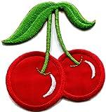 Cherry Cherries Fruit Applique Iron-on Patch S-285