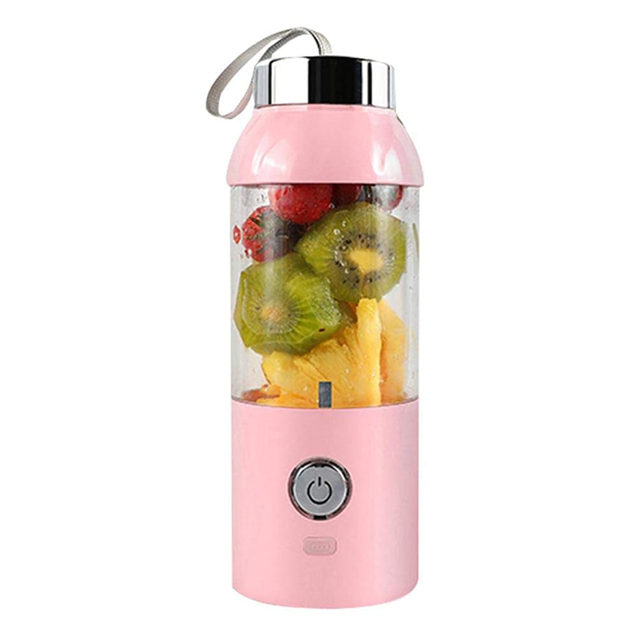 Umiwe 400ML Rechargeable USB Blender,Juicing Mixing Crush Ice Blender,Fruit Mixing Machine with USB Charger Cable(Pink)